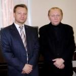 Подполковник полиции А.А.Глахов и председатель НСНБР А.Г.Огнивцев.