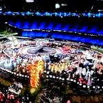 Олимпиада в Лондоне 2012. Летние Олимпийские игры 2012. Фрагменты открытия Олимпийских игр. Автор фото - председатель НСНБР А.Г.Огнивцев.