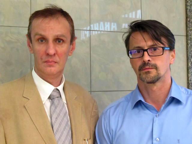 Ответственный секретарь НСНБР В.В.Бублик и член Совета Международного центра развития социальных инициатив А.А.Терехов.