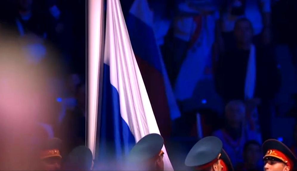 Россия. Санкт-Петербург. 18.10.2013. 2-е Всемирные игры боевых искусств. Церемония открытия. Автор фото председатель НСНБР А.Г.Огнивцев. IMG_1810_7