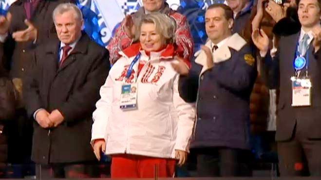 Дмитрий Медведев на Открытии XXII Зимней Олимпиады в Сочи 2014. Автор фото председатель НСНБР А.Г.Огнивцев. IMG_sochi_6_1