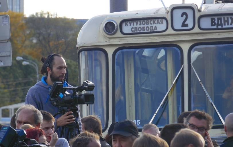 Mcrsi.ru: Троллейбус. Новая модель 2016. Парад. Мосгортранс Москва. Автор фото председатель НСНБР А.Г.Огнивцев. 12112016-5